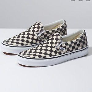 Vans Shoes | Nwt Vans Blur Check Slip